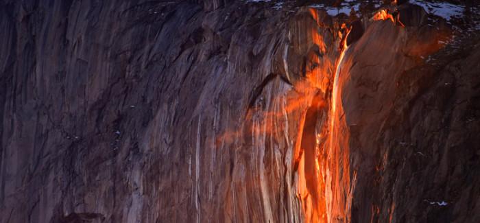 Horsetail Fall, la chute de feu