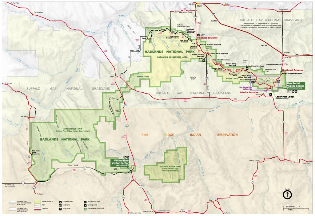 Official Badlands National Park Map