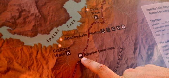 En route sur l'Apache Trail