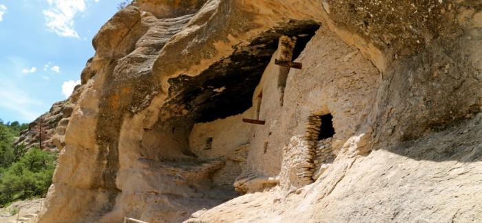 Gila Cliff Dwellings, là-haut sur la colline