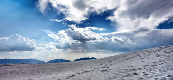 White Sands : missiles, luge et sable blanc