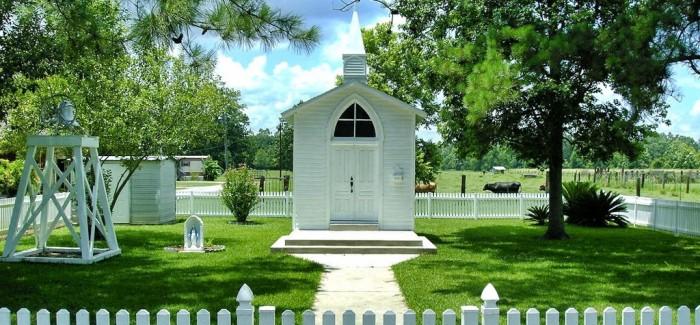 La plus petite église du monde est en Louisiane